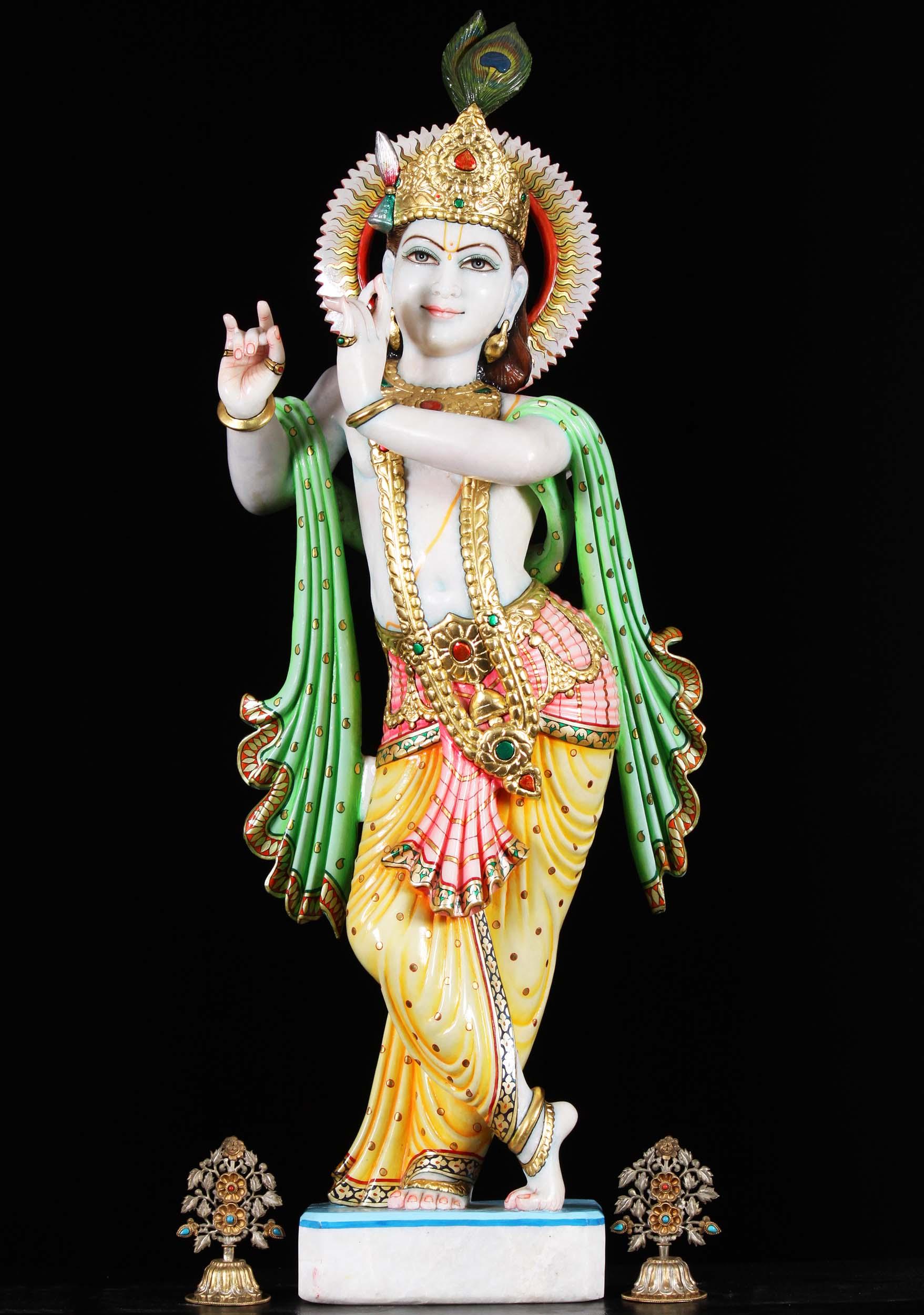 Makrana Marble Gopal Krishna Statue 39 Quot 80wm100 Hindu