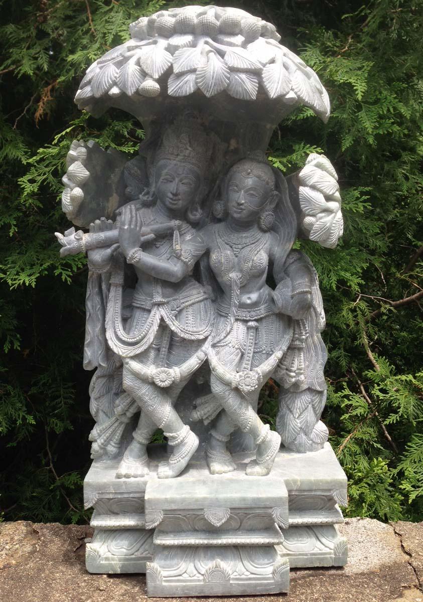 Sold Marble Radha Krishna Statue 24 5 Quot 35m4 Hindu Gods