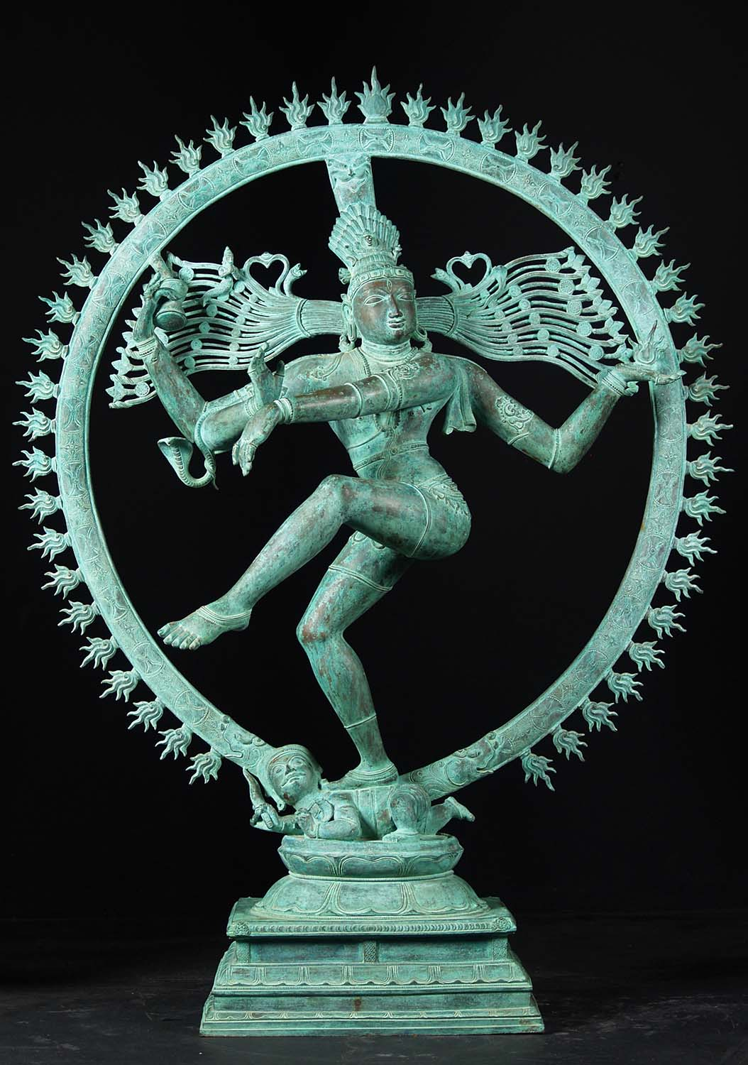 Masterpiece Bronze Antique Patina Nataraja 60 Quot 51b131