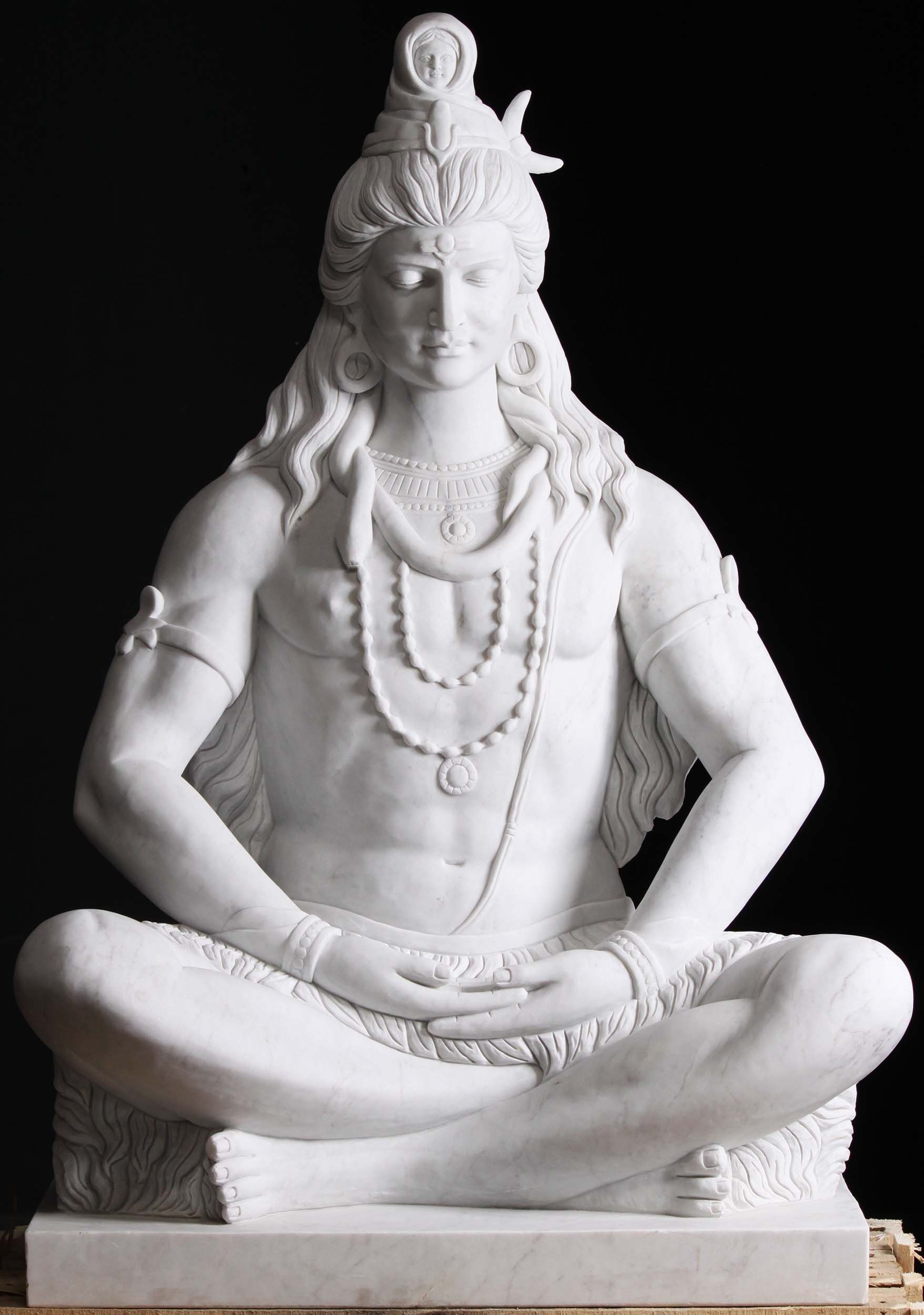 Masterpiece Marble Meditating Shiva Statue 54 Quot 112wm1