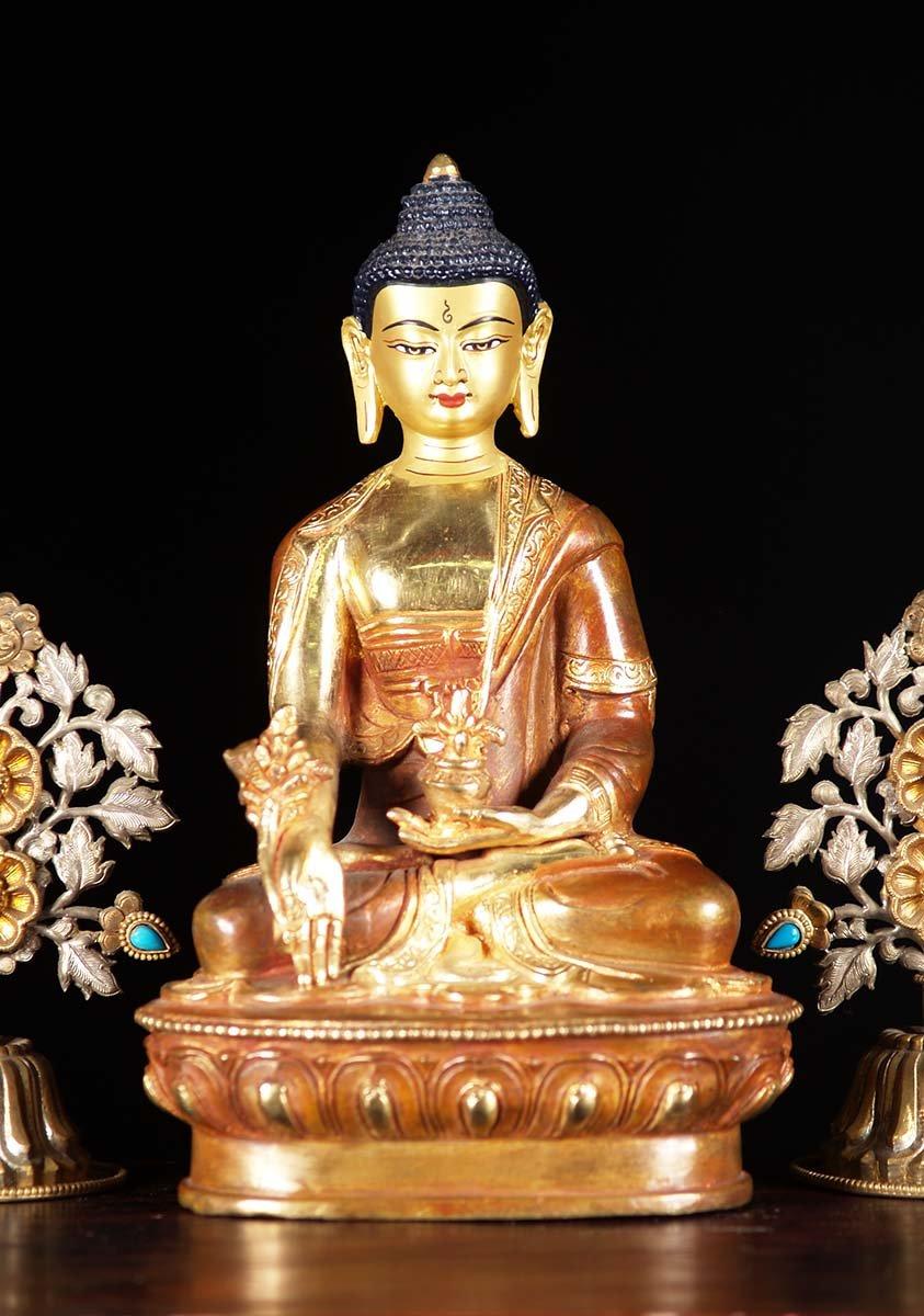 Sold Nepali Medicine Buddha Statue 9 Quot 5n1z Hindu Gods