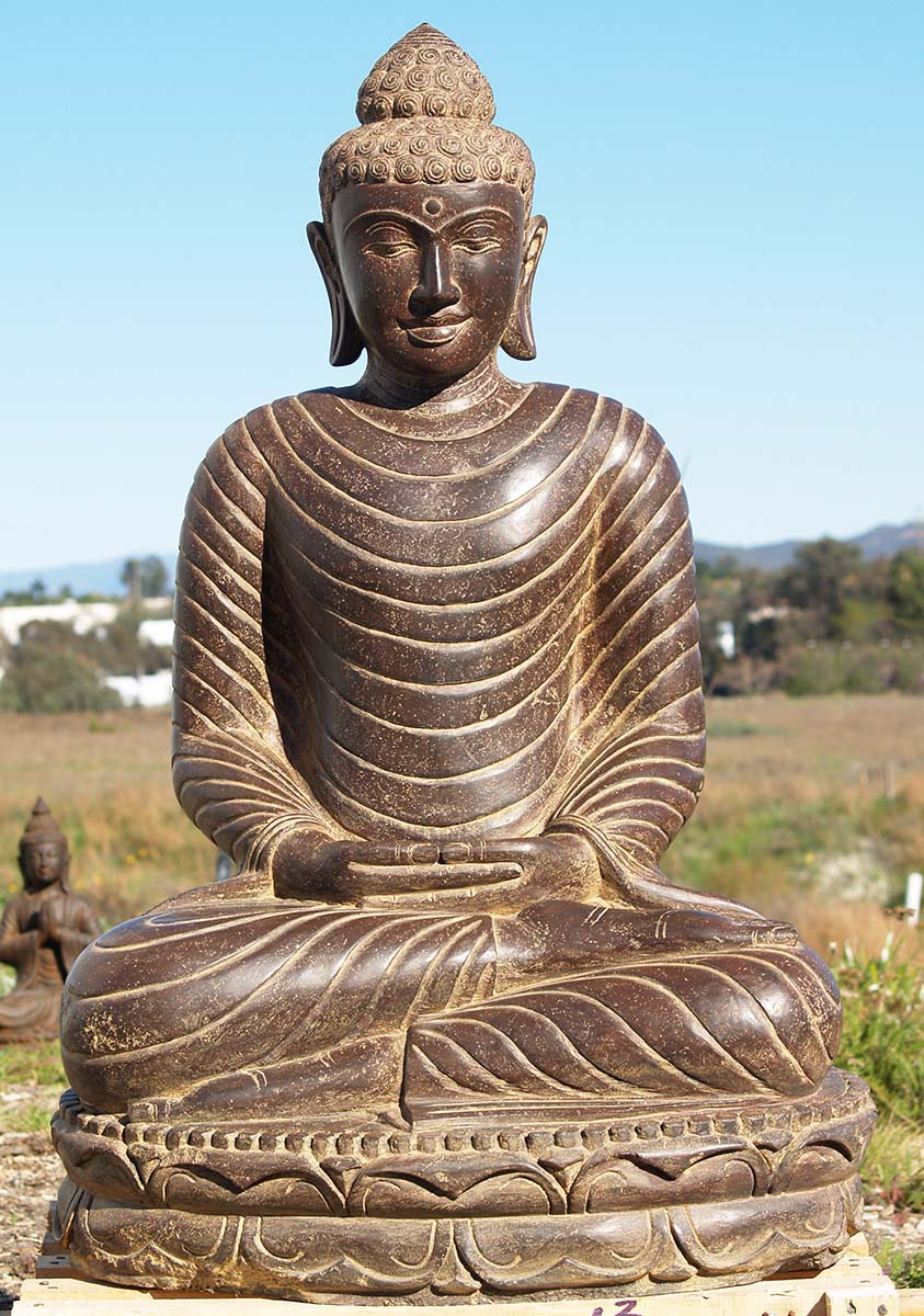 stone meditating buddha garden statue 41 83ls13 hindu. Black Bedroom Furniture Sets. Home Design Ideas