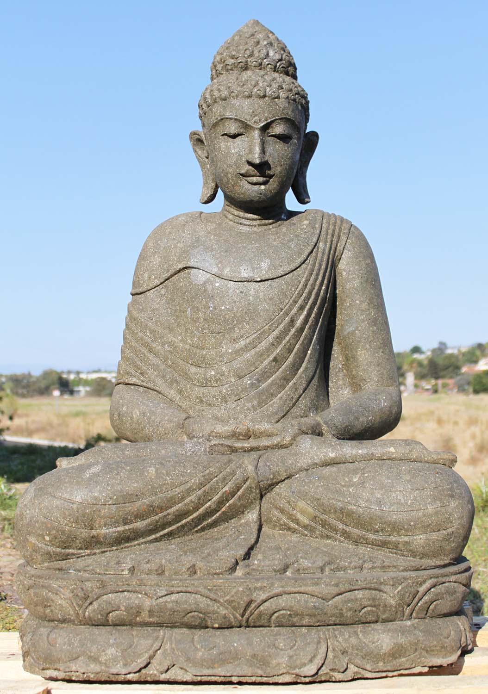 Meditating dhyana mudra garden buddha 41 86ls207 for Outdoor buddha