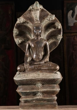 Buddha Seated under the 7 Heads of Muchalinda 39