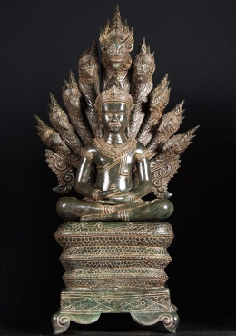 Masterpiece 9 Headed Naga Buddha Statue 44