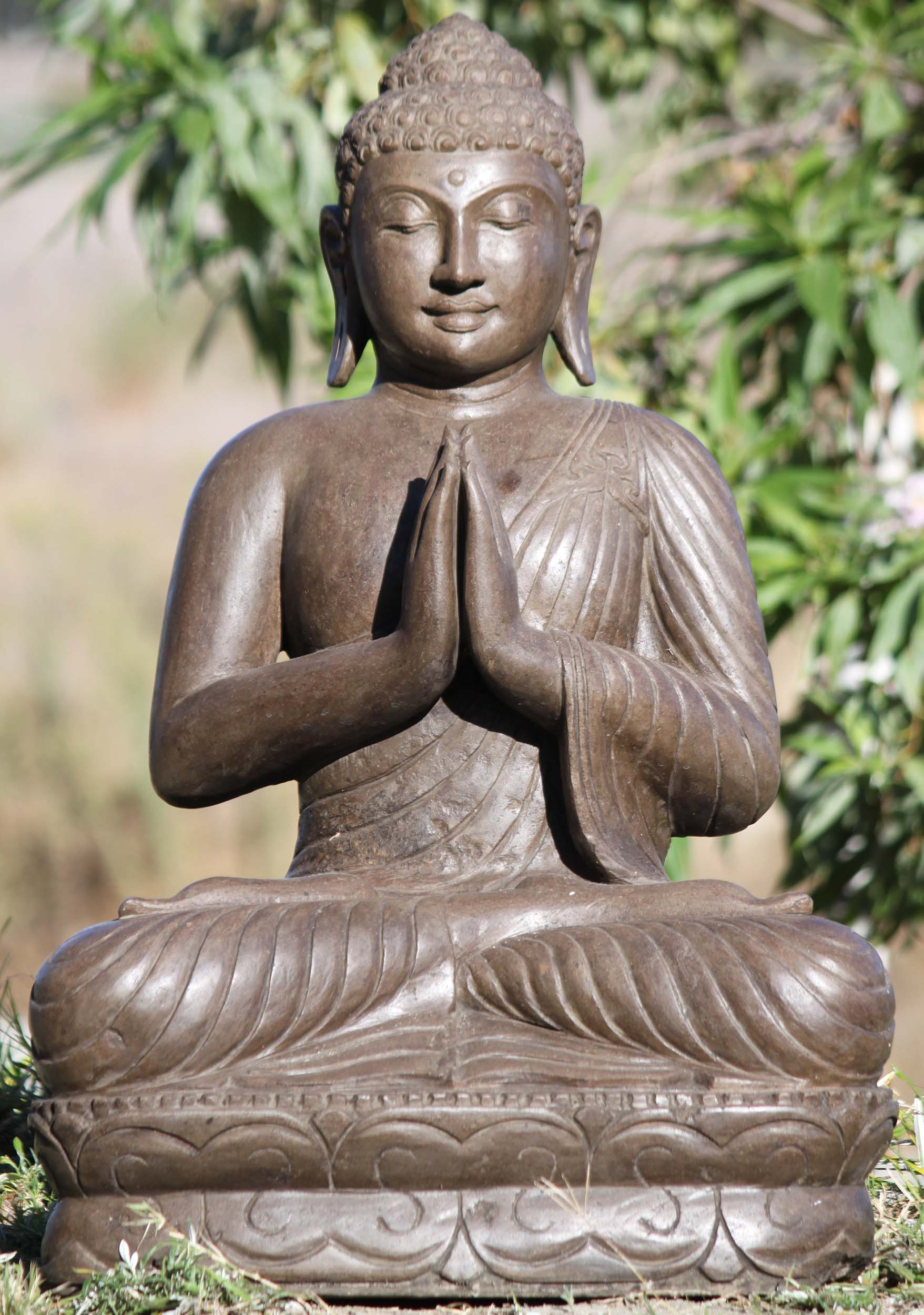 Stone Namaste Buddha Sculpture 31 111ls545 Hindu Gods Buddha