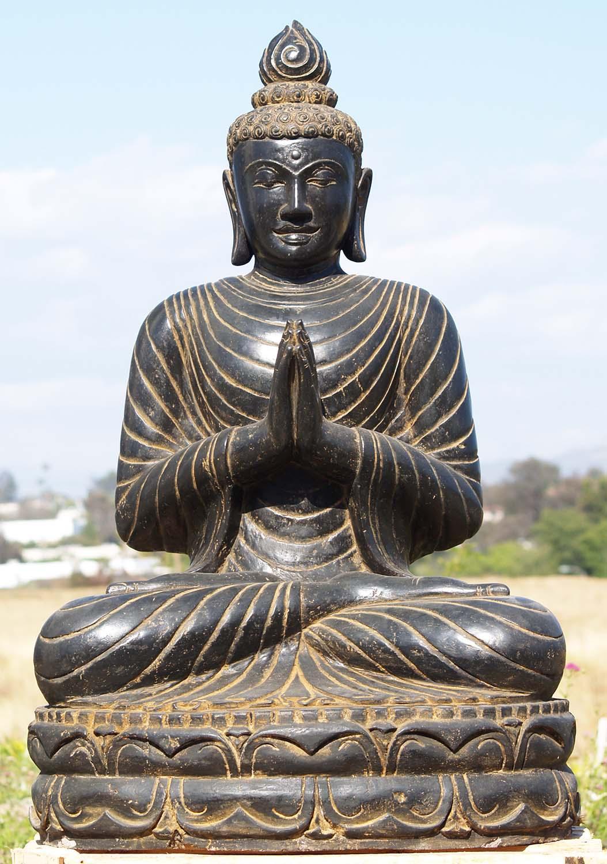 "SOLD Namaste Large Buddha Garden Statue 39"" (#83ls62 ..."