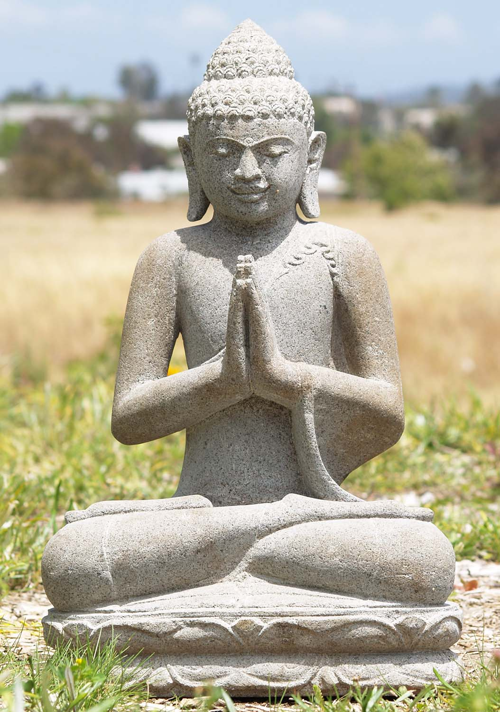 Sold Stone Namaste Garden Buddha Statue 21 69ls5c Hindu Gods