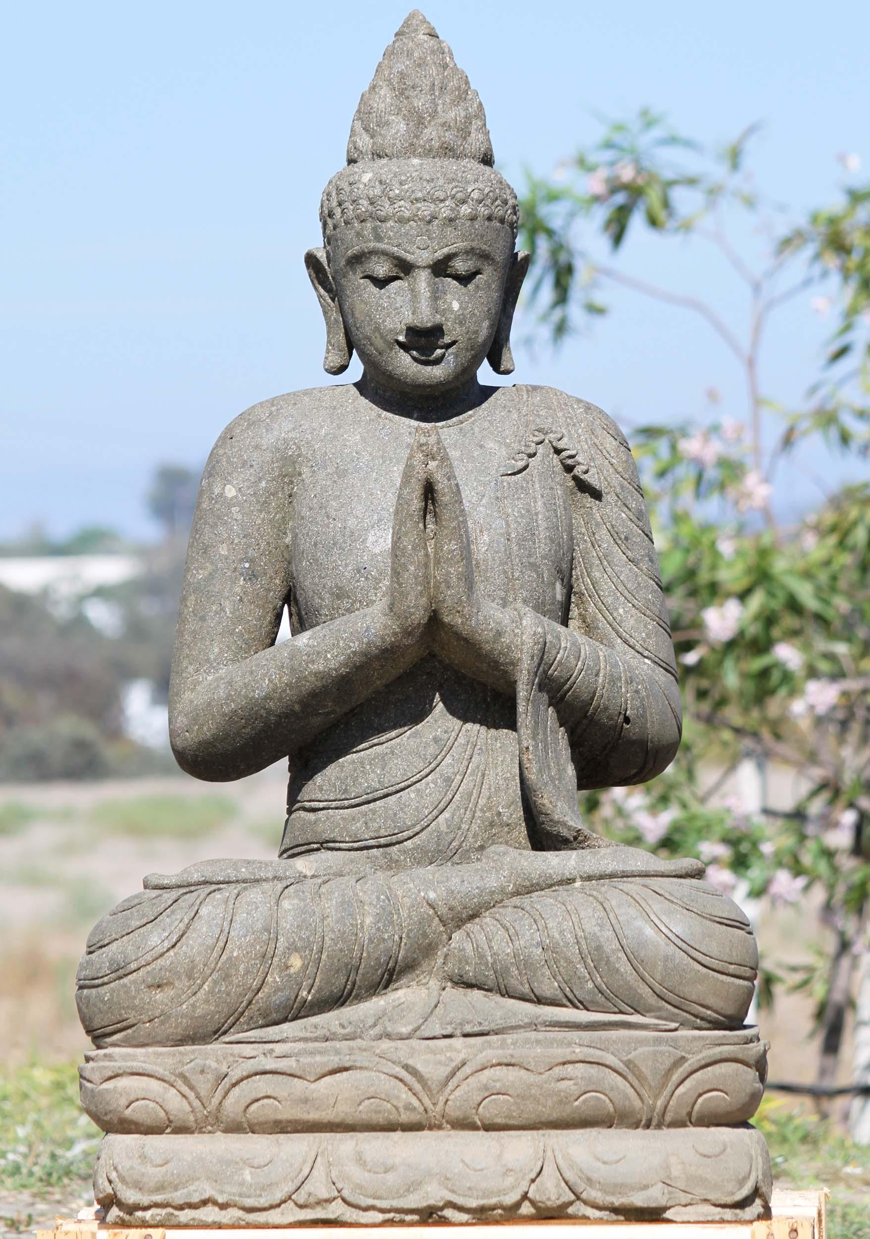 Sold Stone Namaste Garden Buddha Statue 43 102ls3 Hindu Gods