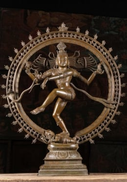 Bronze Dancing Shiva as Lord Nataraja Statue 36