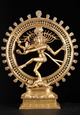 Brass Dancing Shiva as Lord of Dance Nataraja 22