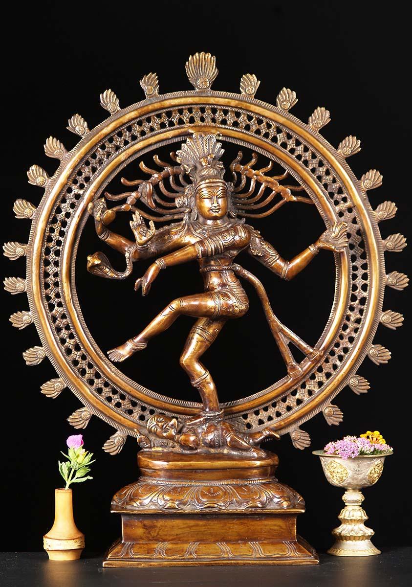 Brass Dancing Shiva As Nataraja Statue 22 Quot 72bs14z
