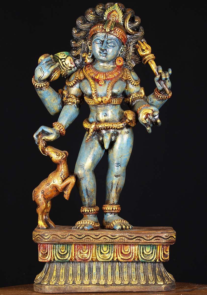 Sold Wood Shiva Bhairava Statue 24 Quot 76w1ac Hindu Gods
