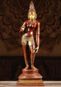 Brass Parvati as Shivakami Statue 24