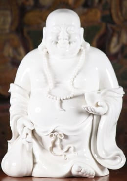 Porcelain Large Standing Fat & Happy Buddha 16