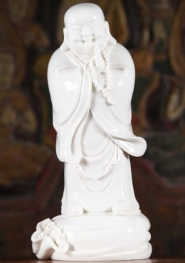 Porcelain Happy Buddha Statue with Malas 14