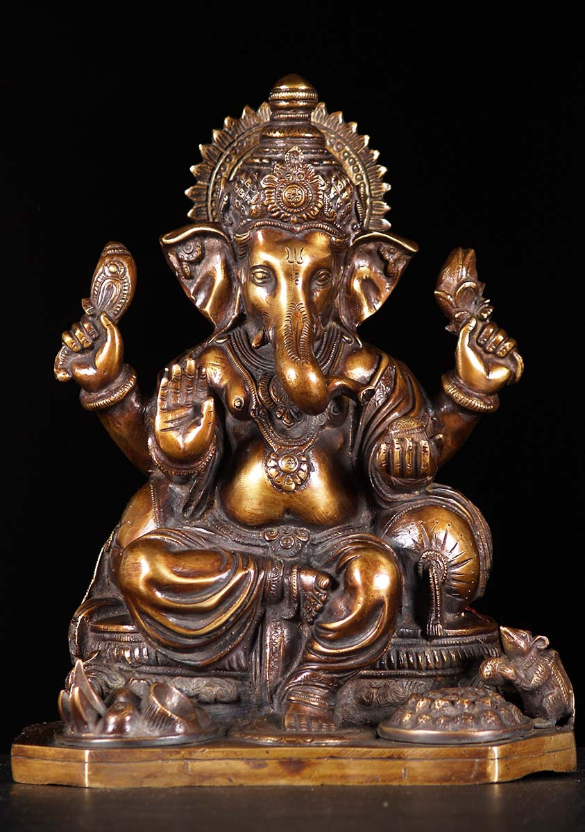 Brass Puja Ganesh Statue 12 Quot 61bs98z Hindu Gods