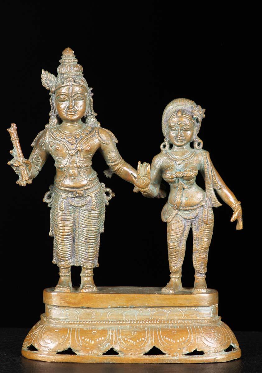 Sold Bronze Radha Krishna Statue 7 Quot 74b59 Hindu Gods