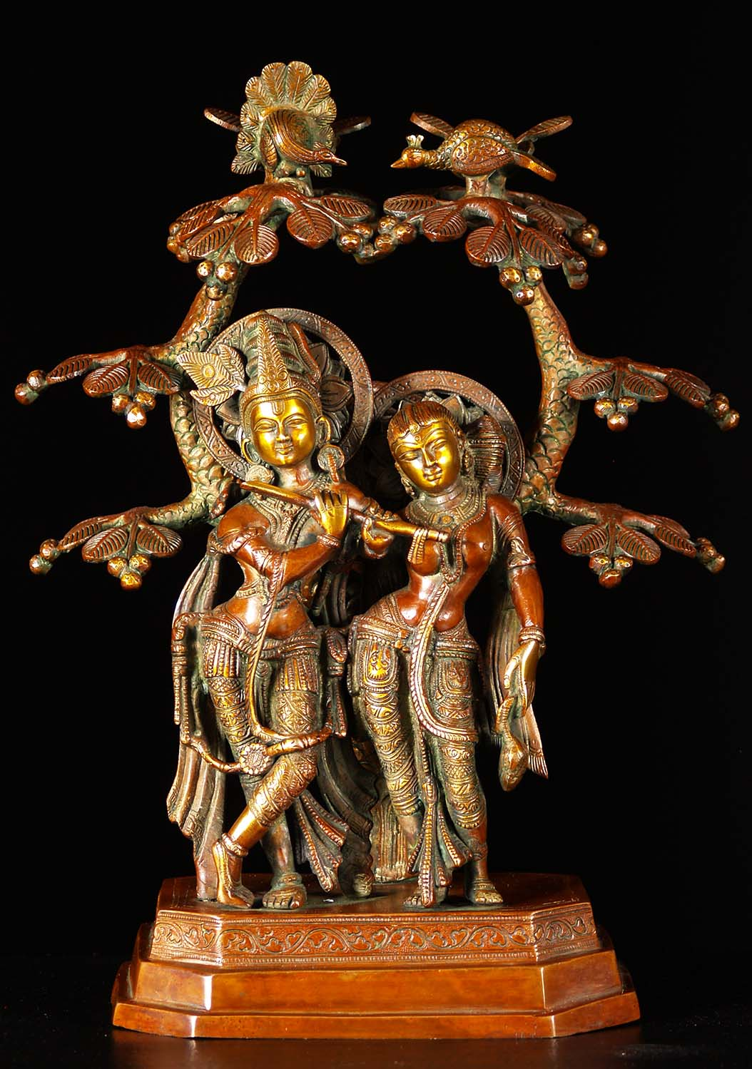 Brass Radha Krishna Statue Under Canopy 17 Quot 72bs15z
