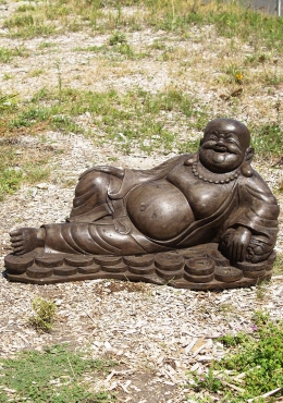 Stone Reclining Fat & Happy Buddha 34