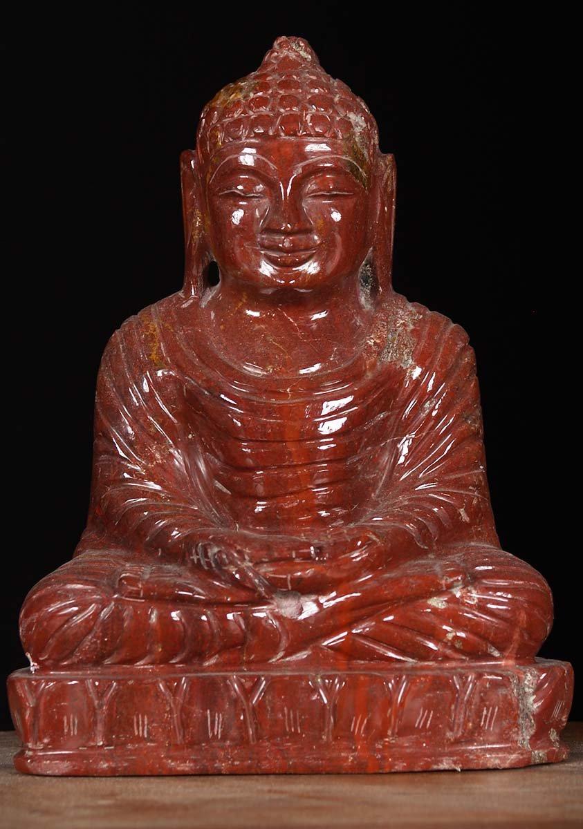 Sold Red Jasper Crystal Buddha Statue 8 Quot 80m91a Hindu