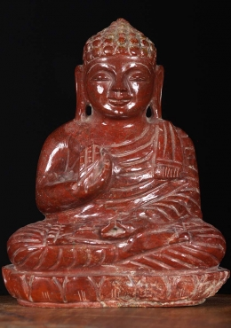 Red Jasper Crystal Teaching Buddha Statue 8