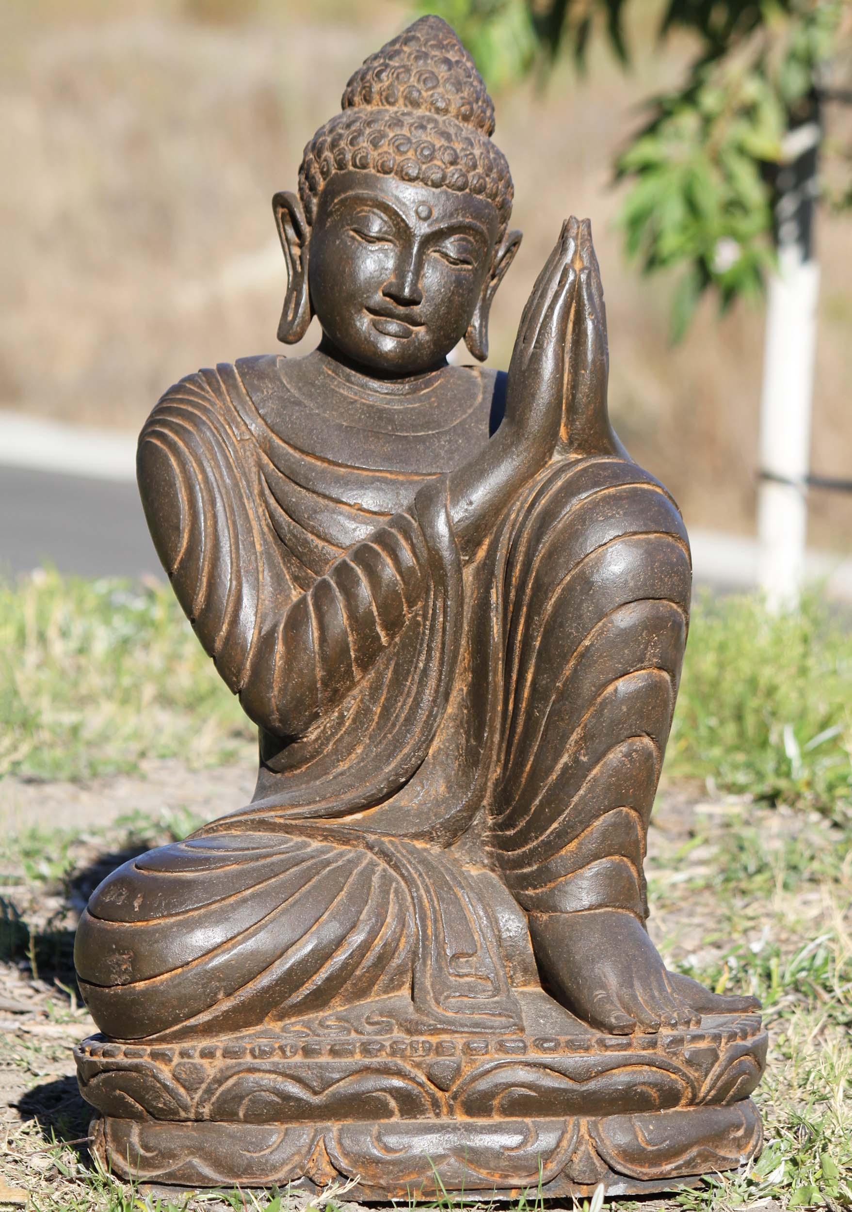 Resting Namaste Buddha Sculpture 28 102ls396a Hindu Gods