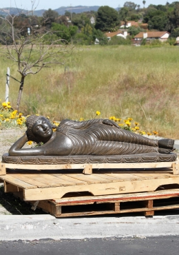 Stone Reclining Garden Buddha Sculpture 54