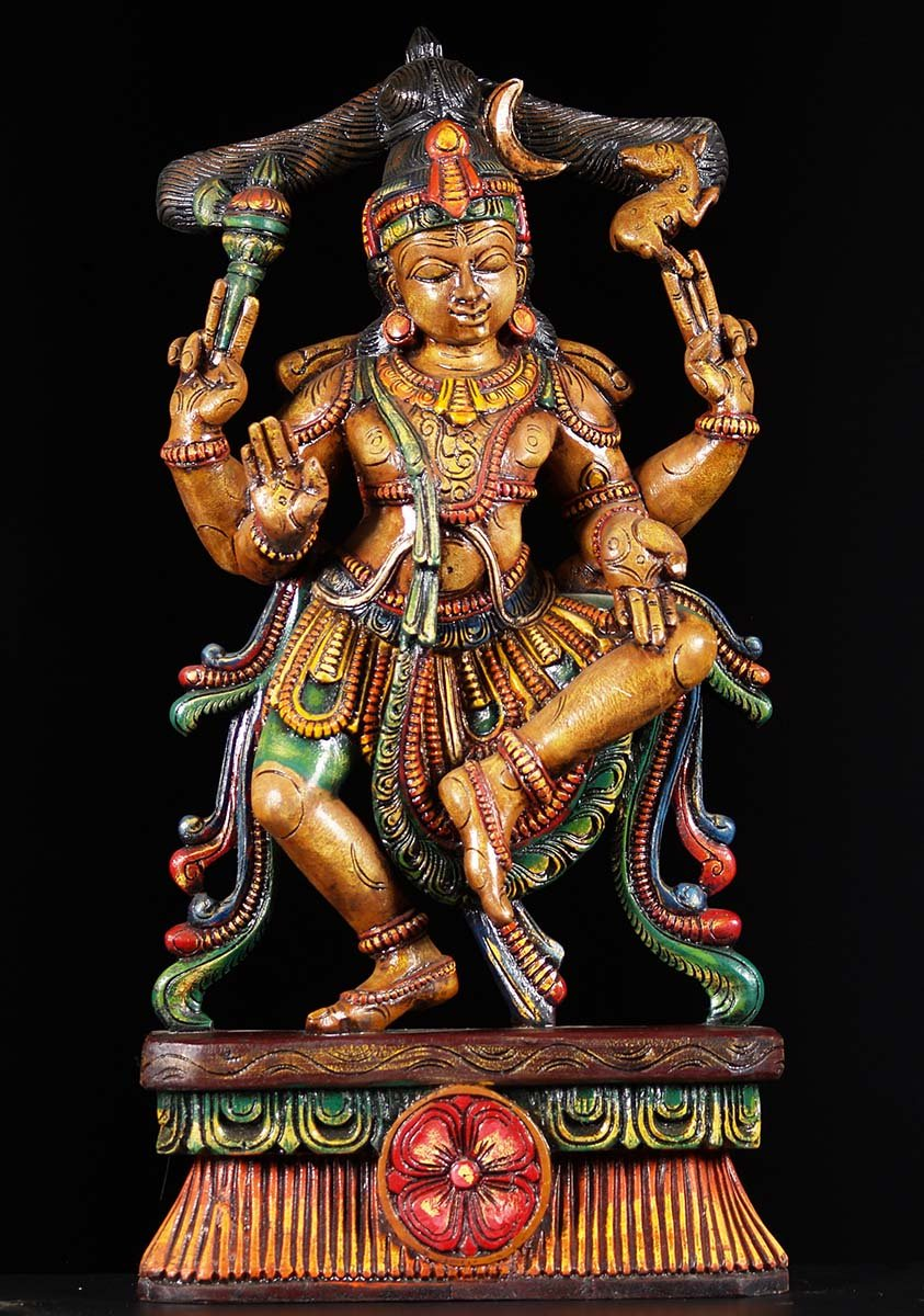 Sold Wooden Dancing Shiva Statue 30 Quot 76w19ak Hindu