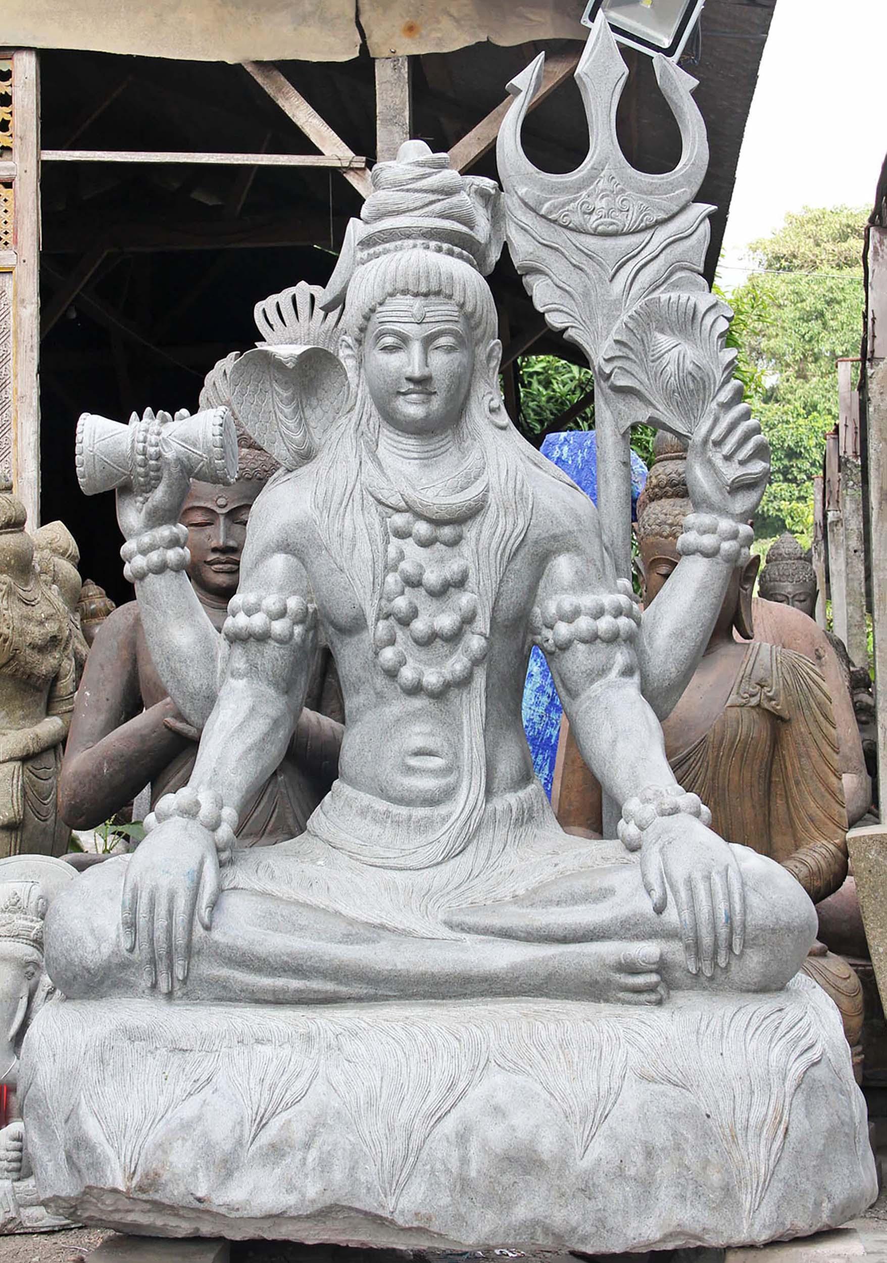Shiva large stone sculpture quot ls hindu gods