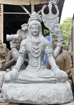Shiva Large Stone Sculpture 83