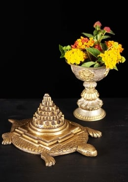 Brass Shrieeyantra With Turtle Statue 1
