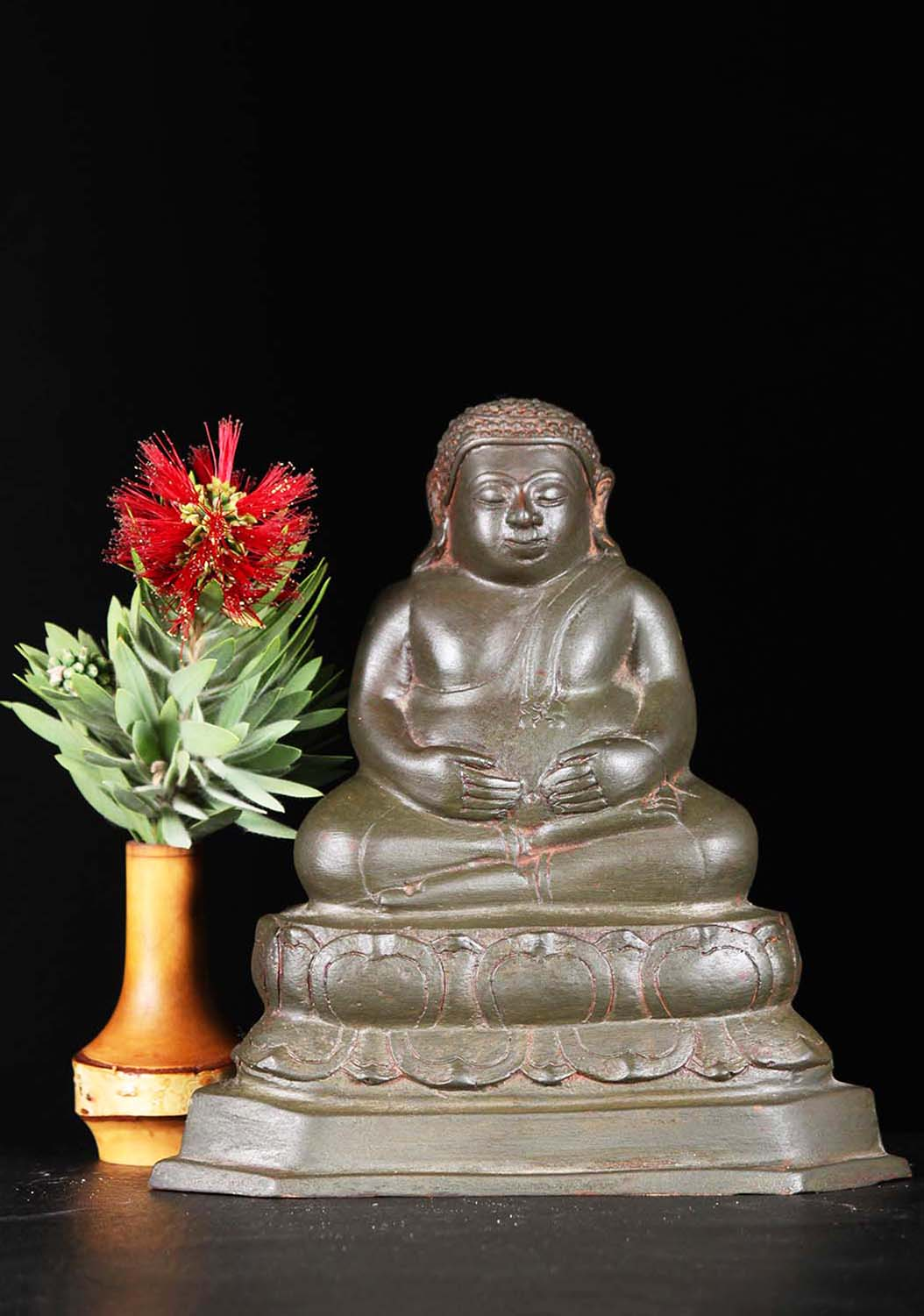 """What Is Freight Shipping >> Brass Small Fat Buddha Statue 8"""" (#82t30): Hindu Gods ..."""