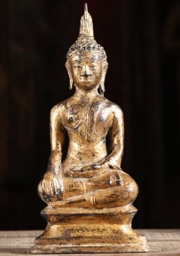 Small Statue Gold Leaf Thai Buddha 11