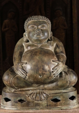 Fat Buddha Statue Holding His Belly 19