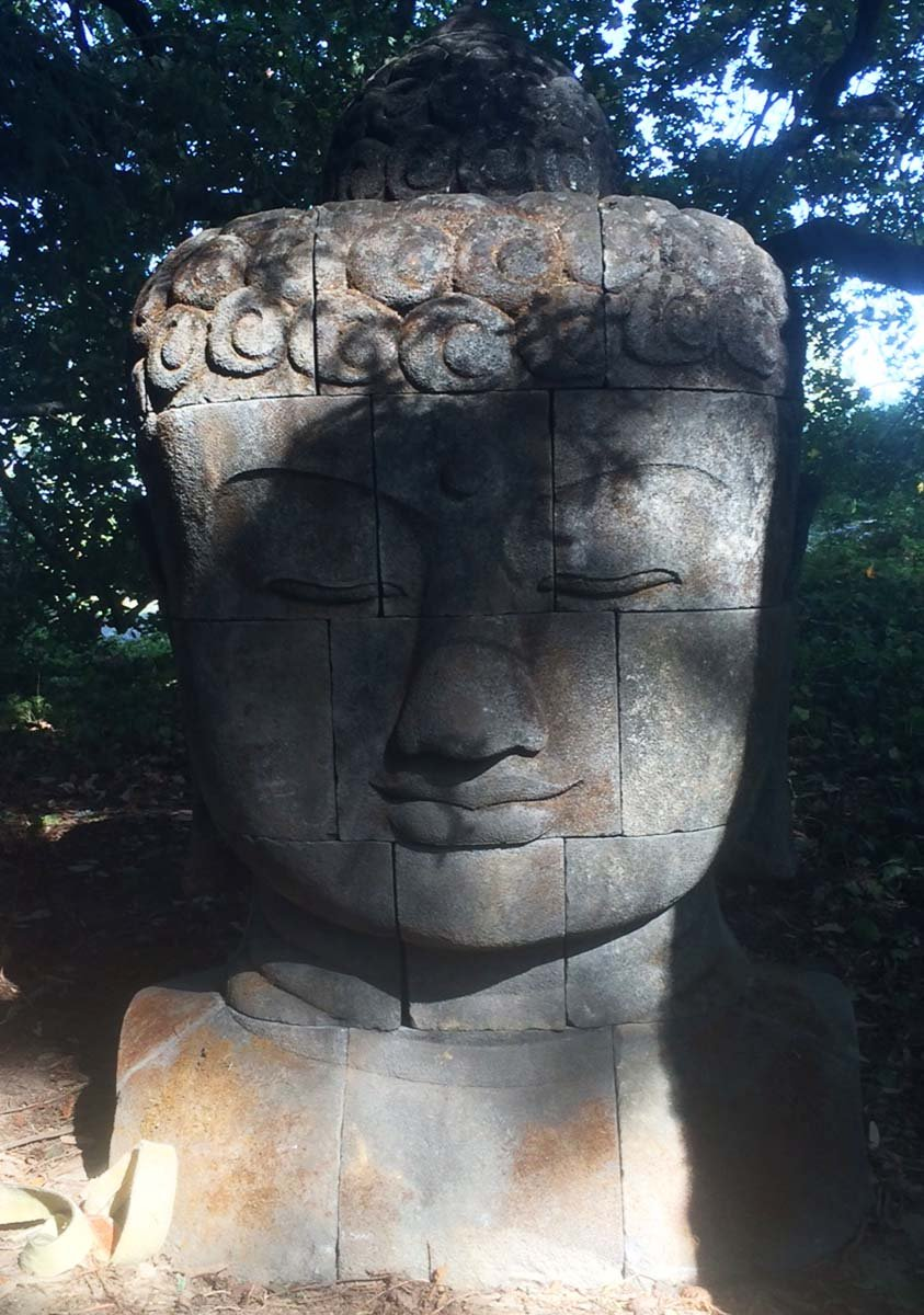 Custom stone buddha head carved in blocks quot ls