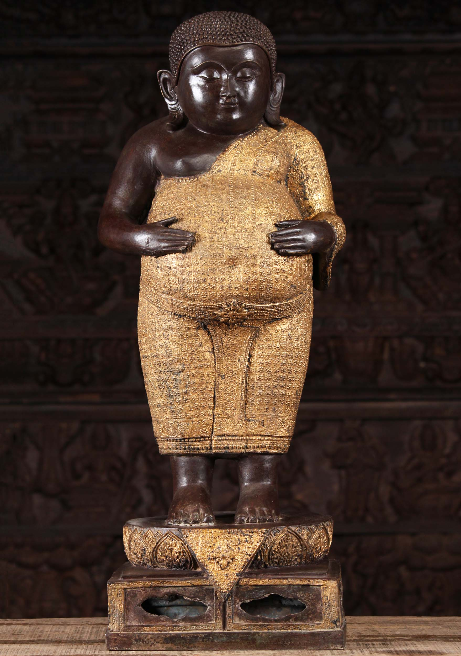 Fat Buddha Statue With Both Hands On Belly 31 58t3a Hindu Gods Buddha Statues