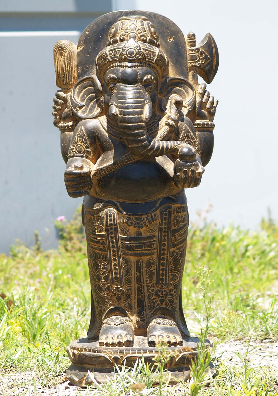 SOLD Stone Standing Ganesh Garden Statue 35\