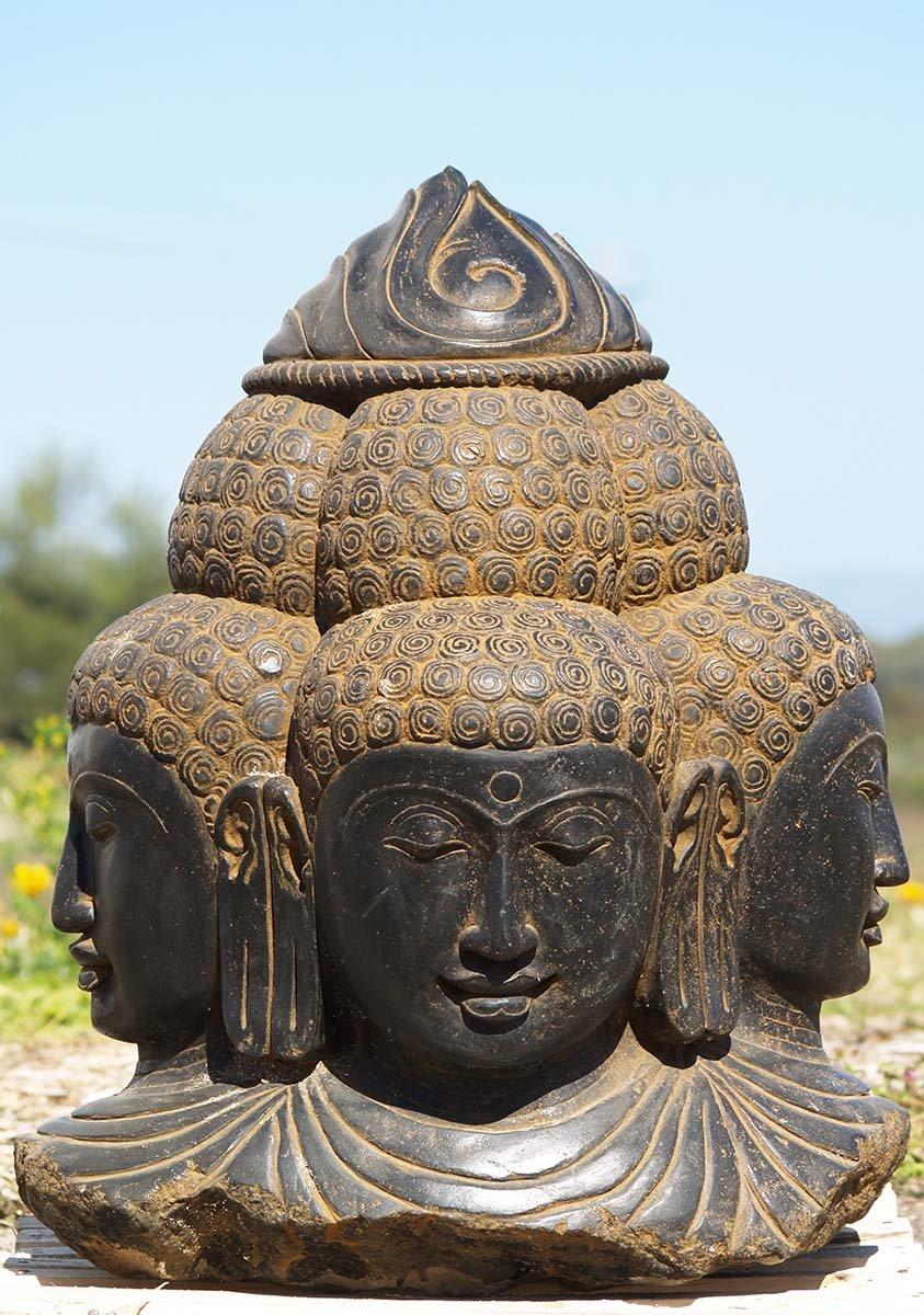 Stone faced garden brahma statue quot ls hindu