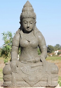 Stone Devi Tara Earth Touching Statue 39
