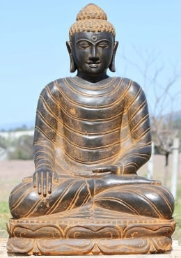 Stone Earth Touching Buddha Garden Statue 31