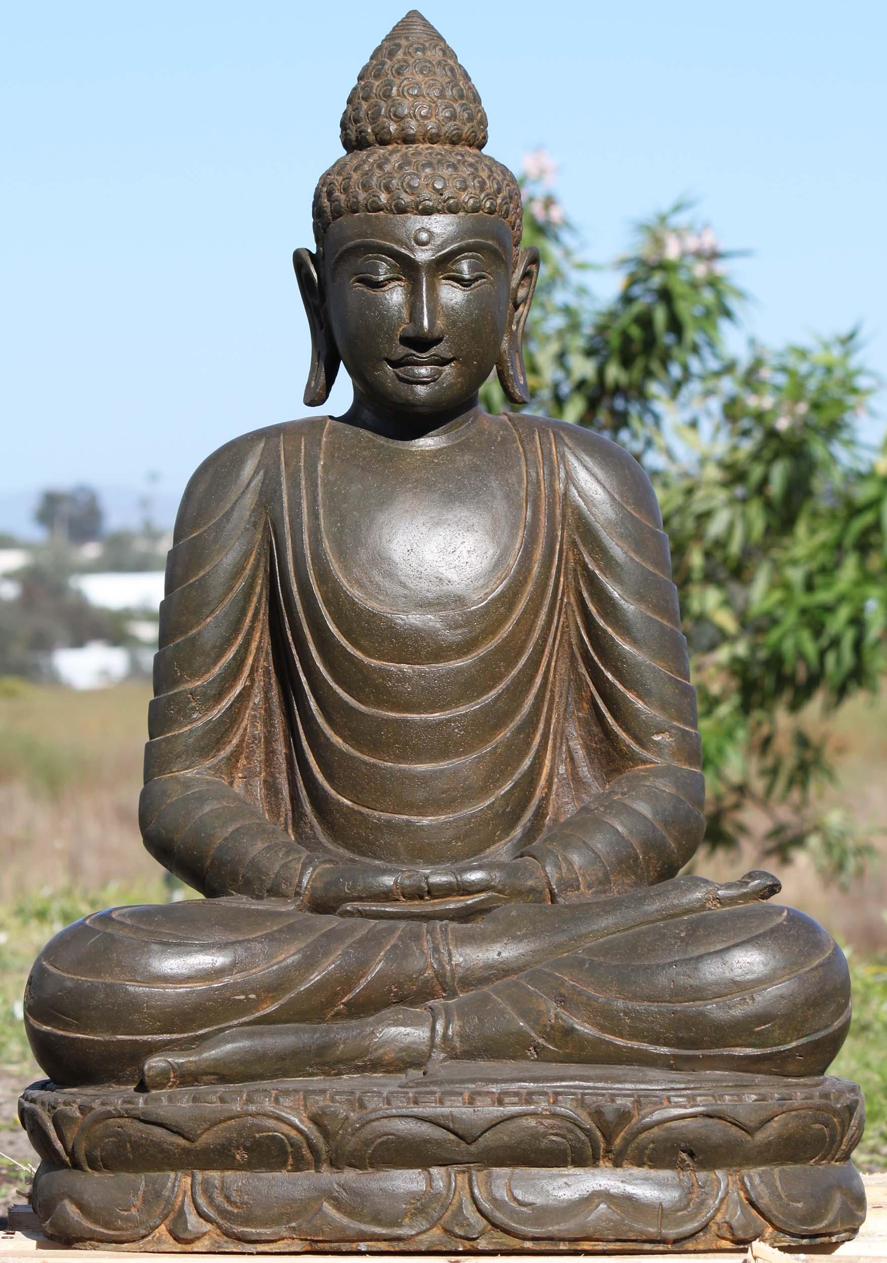 Stone garden buddha meditating statue 32 102ls391 hindu gods stone garden buddha meditating statue 32 workwithnaturefo