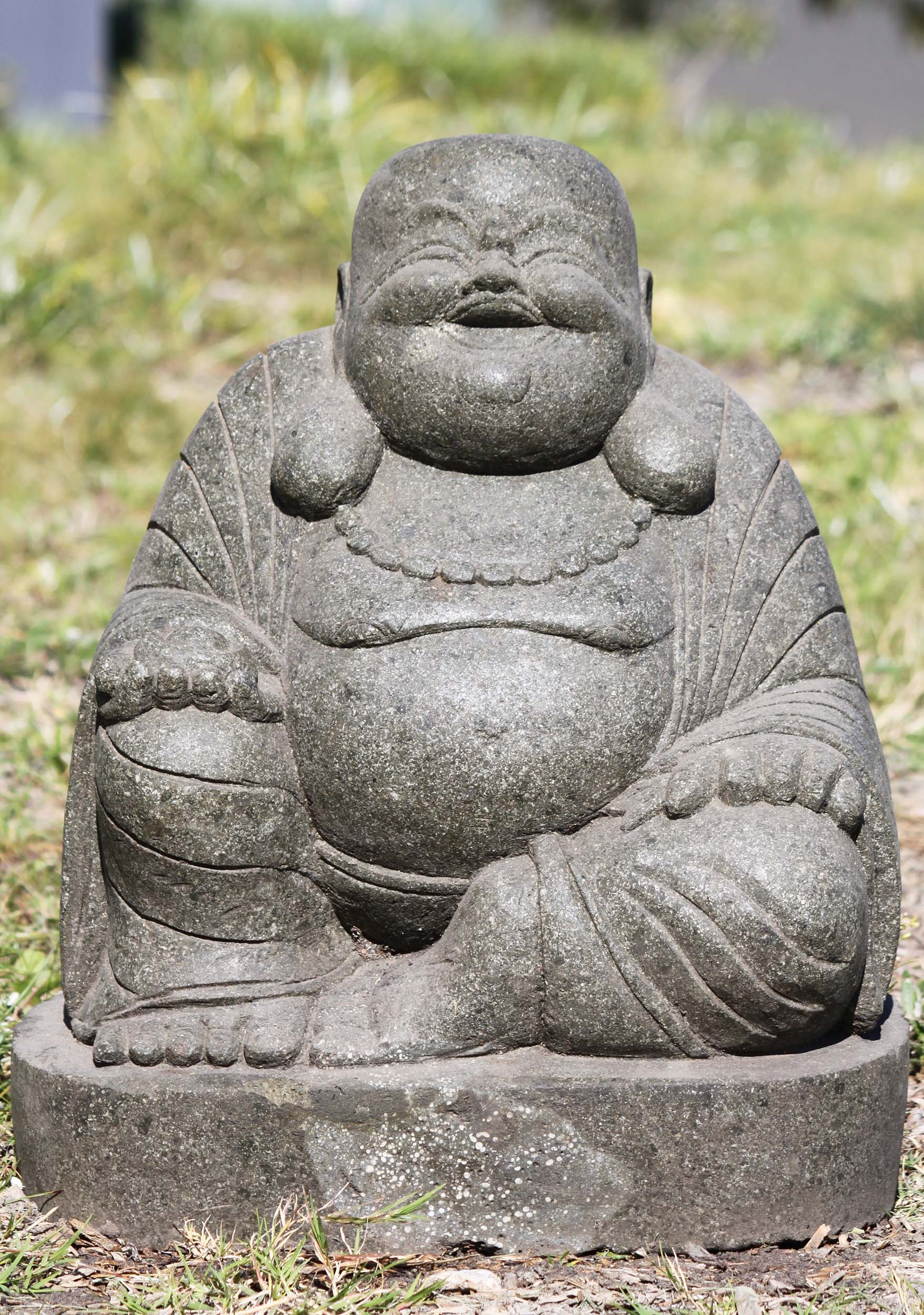 stone garden fat happy buddha statue 20 102ls347z. Black Bedroom Furniture Sets. Home Design Ideas