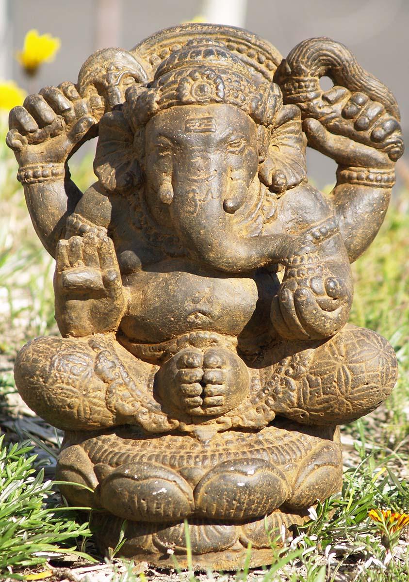 Seated garden ganesh statue quot vc z hindu gods