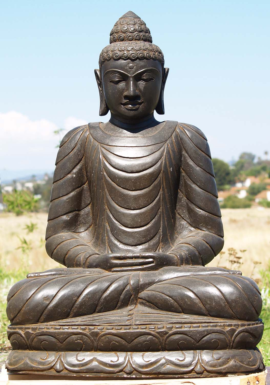 sold stone garden sculpture buddha 33 86ls177 hindu gods buddha statues. Black Bedroom Furniture Sets. Home Design Ideas