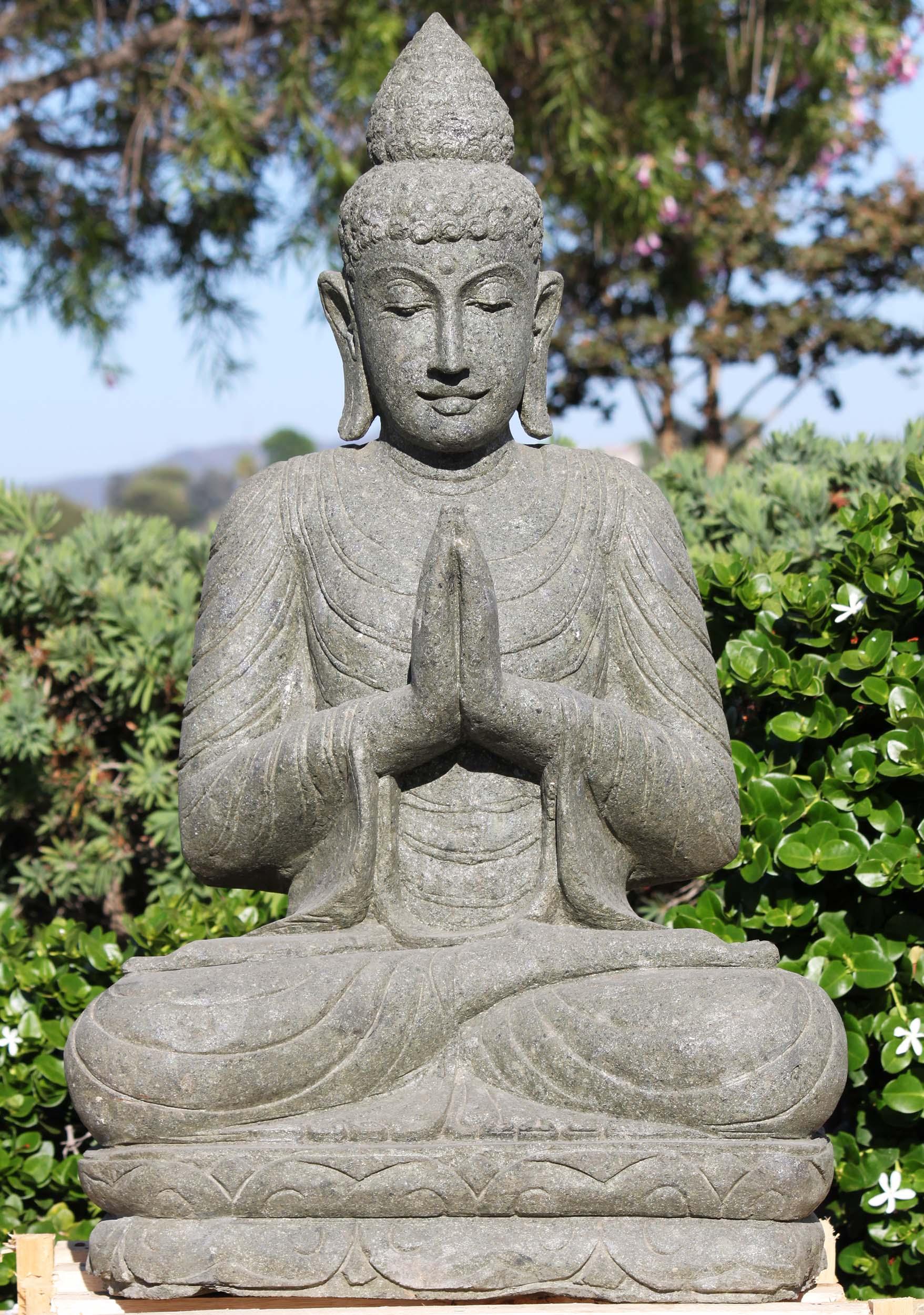 Sold Stone Namaste Buddha Garden Sculpture 40 116ls607 Hindu Gods Buddha Statues