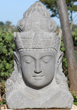 Stone Parvati Garden Bust with Bindi 38