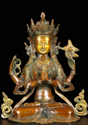 Brass Seated Avalokiteshvara Statue 10