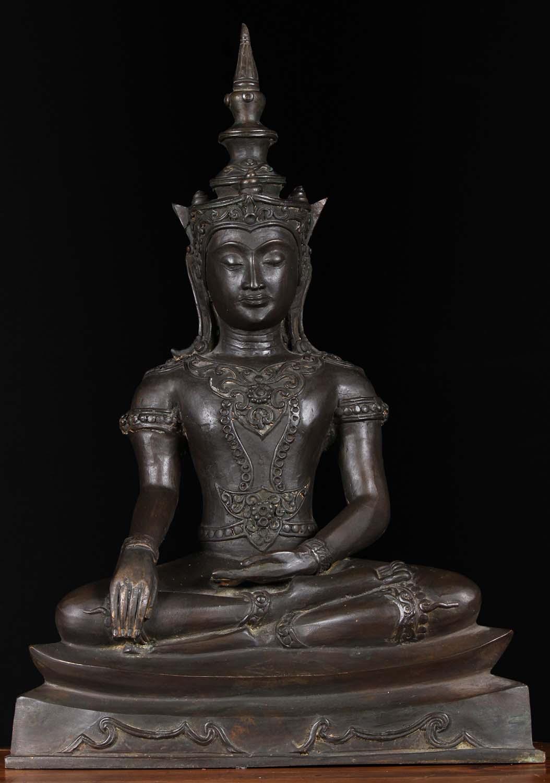 sold brass thai ayutthaya style buddha statue 22 82t55a