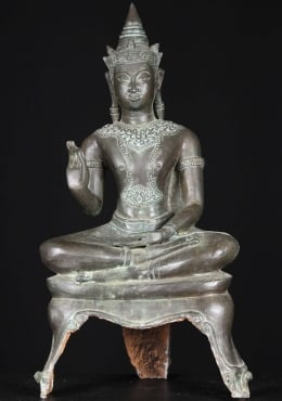 Thai Brass Royal Ayutthaya Buddha Statue 27